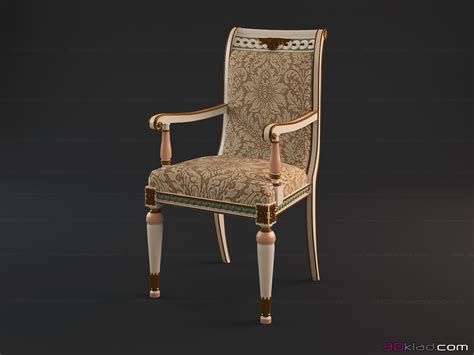 White Sofa Fabric by Chair On The Carved Frame Tanya 187 3d Models Of Chairs 187 3d