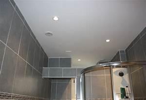 revgercom lame pvc plafond salle de bain idee With quelle peinture pour plafond salle de bain