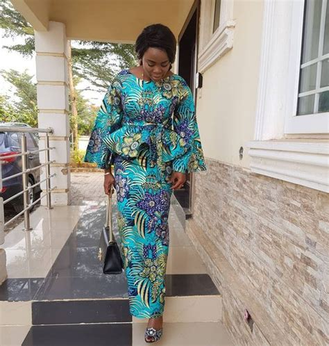 beautiful and excellent ankara peplum skirt and blouse styles for