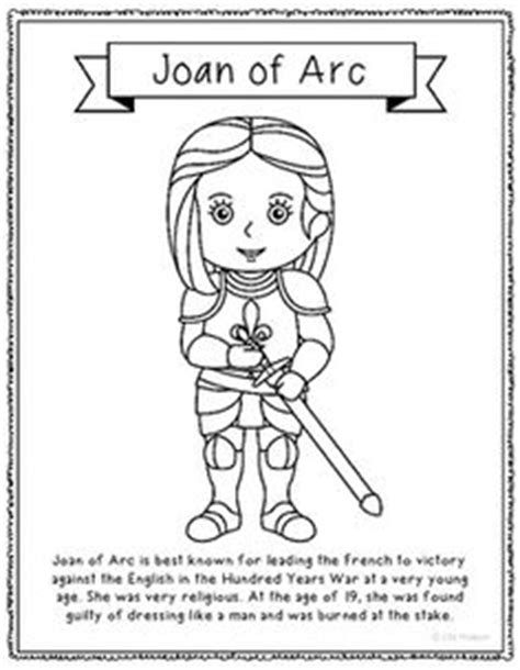 clara barton coloring page worksheets clara barton and 342 | 781cb1b5330eeea665493ebdc1978397 joan of arc interactive notebooks