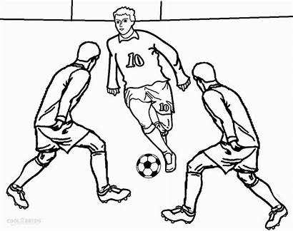Coloring Soccer Sports Football Player Printable Coloriage