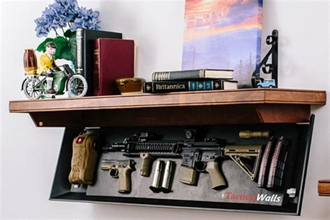 shelf gun safe these tactical wall shelves hide your guns in plain sight
