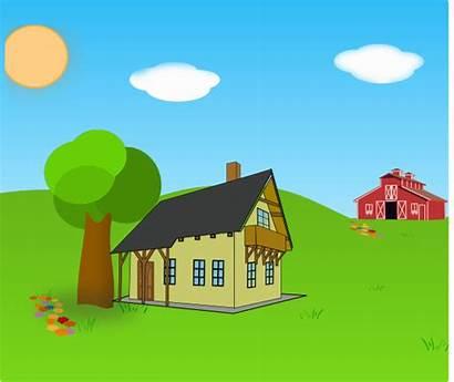 Farm Scene Clip Clipart Domain Cliparts