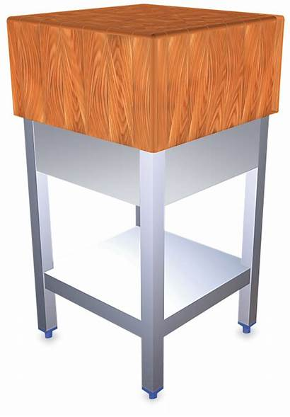 Wooden Block Chopping Stainless Steel Birch Fringe