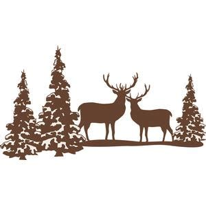 silhouette design store view design  reindeer