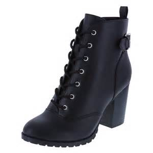 womens boots black brash 39 s primm lace up ankle boot payless