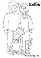 Caillou Coloring Pages Printable Adults sketch template