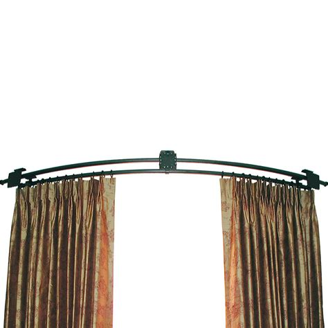 corner window curtain continuously curved rod ona drapery hardware
