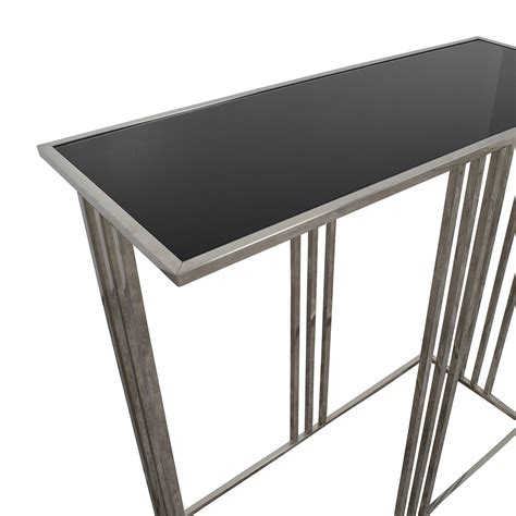 black and silver table ls 73 off marshalls homegoods marshalls homegoods black
