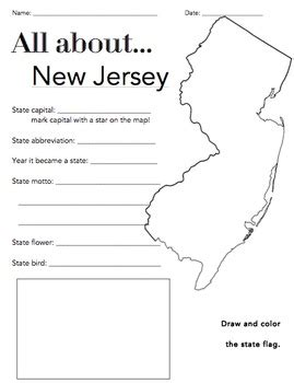 new jersey state facts worksheet elementary version by