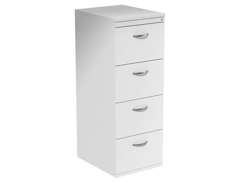 Kito 4-drawer Filing Cabinet In White Upper Drawer Buy Drawers 8 Mean Labels Solid Hallway Roller