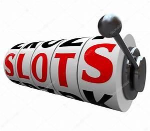 Slots Word Casino Slot Machine Wheels Handle — Stock Photo ...