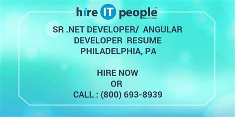 sr net developer angular developer resume philadelphia