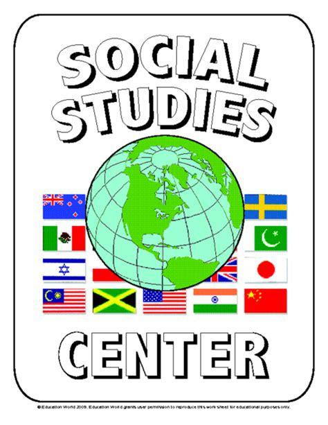 Social Studies Sign Template  Education World