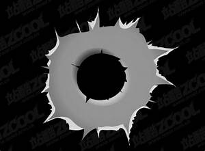 Bullet Holes Vector Graphic| Graphic Hive