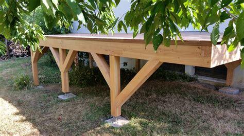 terrasse surelevee en bois optez pour une terrasse sur 233 lev 233 e loire eco bois