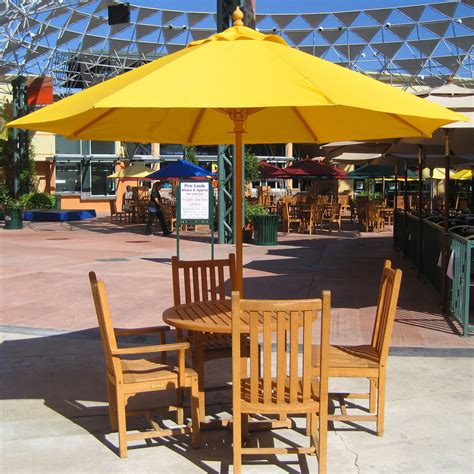 Rectangular Patio Umbrella With Solar Lights by Furniture Trademark Innovations Deluxe Solar Powered Led