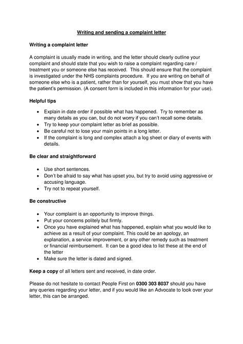 Hospital Staff Formal Complaint Letter | Templates at