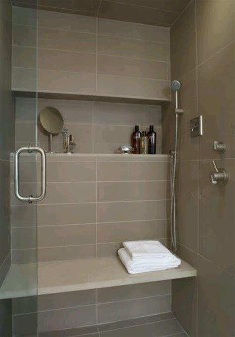 shower shelf large tile bench bathroom inspiration