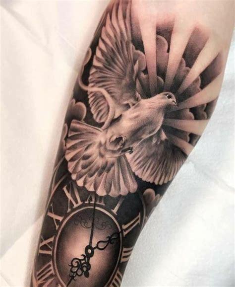 taube bedeutung mit taube und uhr mit bedeutung frieden tattoos