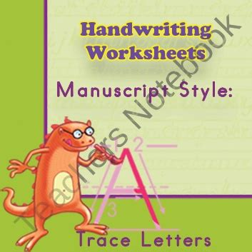 handwriting worksheets practice manuscript style trace