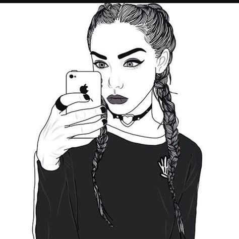 phone celular wallpaper fond d 233 cran t 233 l 233 phone dessin blanc et noir 224 design fille ado swag