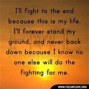 Never Back Down Fighting Quotes. QuotesGram