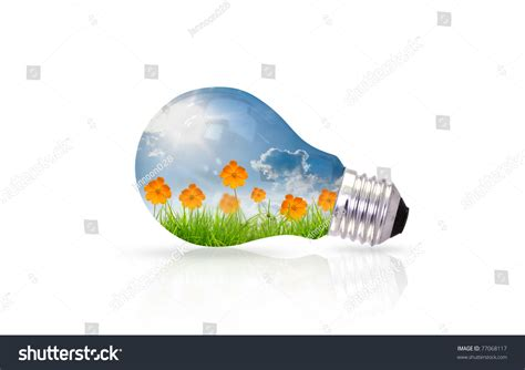 light bulb beautiful flower inside stock photo 77068117