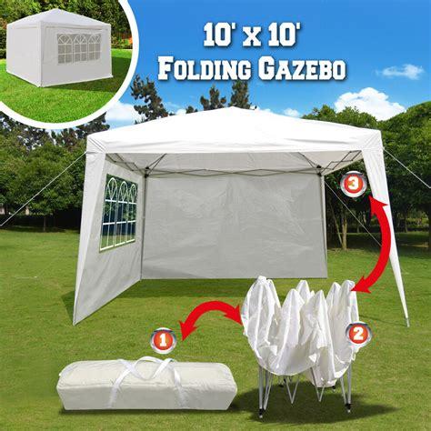 easy up gazebo 10 x10 ez pop up folding gazebo canopy wedding tent