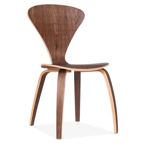 chaises de style chaise design moderne de style cherner en bois de noyer