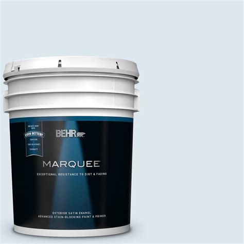 behr marquee 5 gal 540e 1 wave crest satin enamel exterior paint and primer in one 945005
