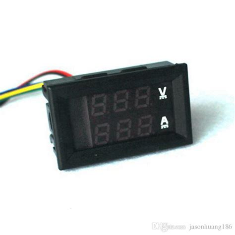 2019 digital ammeter voltmeter yb27va dc 0 100v 50a 2 in 1 digital volt led dual color