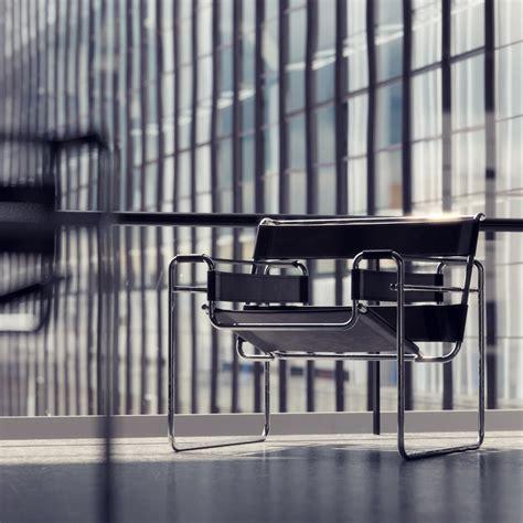chaise wassily bauhaus at dessau visualization by bertrand benoit 3d