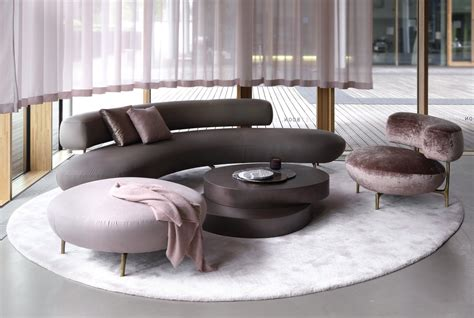 Sofa Room Design by Seductive Curved Sofas For A Modern Living Room Design