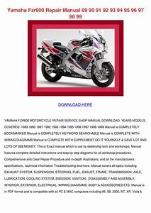 Yamaha Fzr600 Repair Manual 89 90 91 92 93 94 By