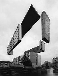 Sliced Levitating Buildings   Variations On A Dark City By
