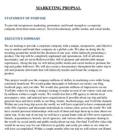 social media proposal template   word