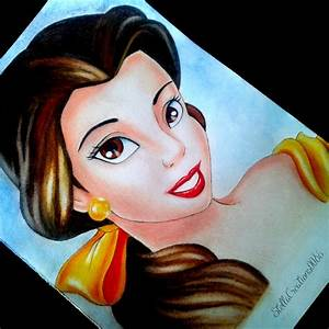 Drawing Belle From Beauty And The Beast Youtube