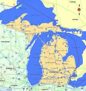 Michigan State Map Printable