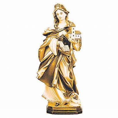 Statue Saint Hedwig Wooden Shades Brown Jadwiga