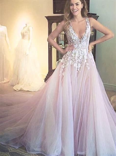 gorgeous   scoop long wedding dress dress