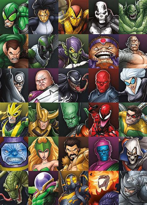 Marvel Villains Collage 1000pc Puzzle   Toy   at Mighty Ape NZ