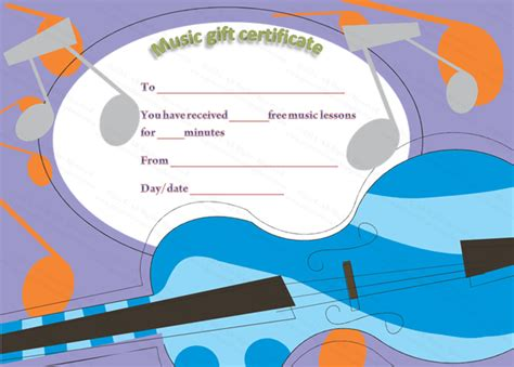 gift certificate templates certificate templates