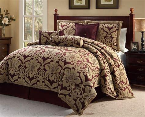 luxury comforters sets home bedroom luxury 7pc bedding galloway burgundy gold