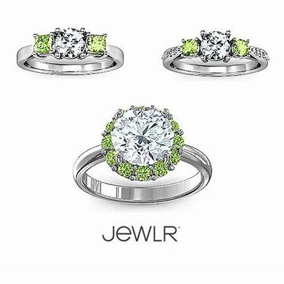 Birthstone Jewelry August Peridot Engagement Birthstones Jewlr