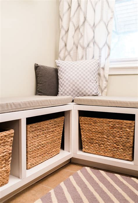 Kitchen Bench Clutter by Build An L Shaped Bench To Maximize Seating And Storage In