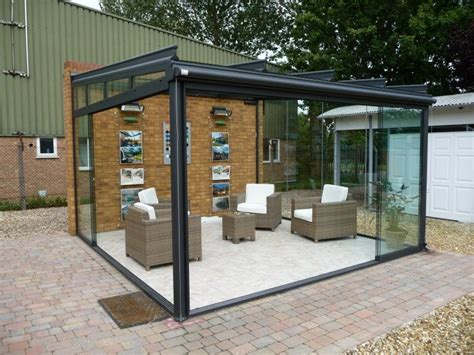 Garden Room With Living Roof by 2 Post Support Glass Garden Room Interior Design Glass