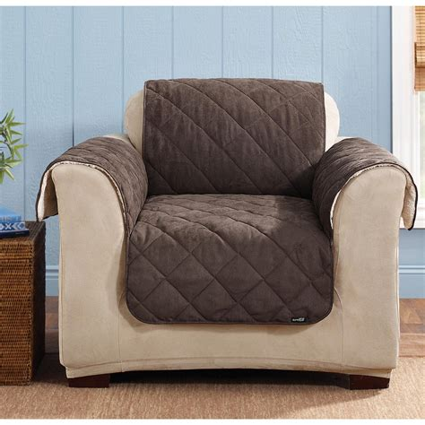 sure fit furniture covers sure fit reversible suede sherpa chair pet cover