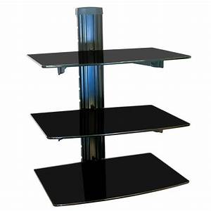 Tv Hifi Rack : nemaxx glass shelf dvd tv shelf hifi media shelf ~ Michelbontemps.com Haus und Dekorationen