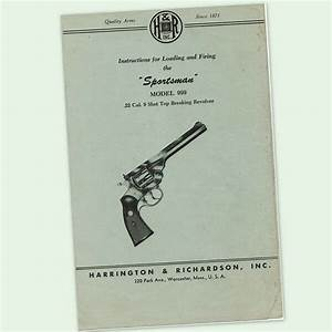 H U0026r 999  22 Revolver Instructions Parts Owners Manual